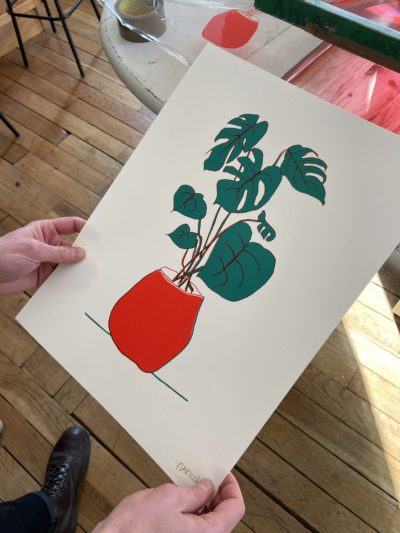 serigraphie Over print effect